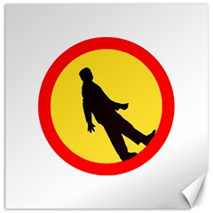 Walking Traffic Sign Canvas 20  X 20  (unframed)