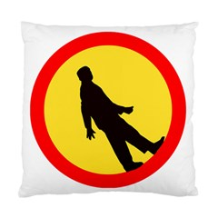Walking Traffic Sign Cushion Case (two Sided)