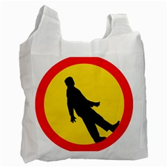 Walking Traffic Sign Recycle Bag (two Sides)