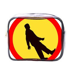 Walking Traffic Sign Mini Travel Toiletry Bag (One Side)