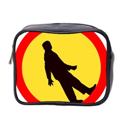Walking Traffic Sign Mini Travel Toiletry Bag (Two Sides)