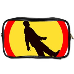 Walking Traffic Sign Travel Toiletry Bag (one Side)