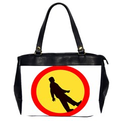 Walking Traffic Sign Oversize Office Handbag (Two Sides)