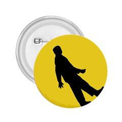 Walking Traffic Sign 2.25  Button