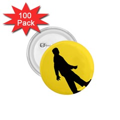 Walking Traffic Sign 1.75  Button (100 pack)