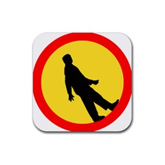 Walking Traffic Sign Drink Coaster (Square)