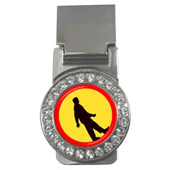 Walking Traffic Sign Money Clip (CZ)