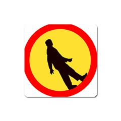 Walking Traffic Sign Magnet (Square)