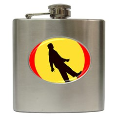 Walking Traffic Sign Hip Flask