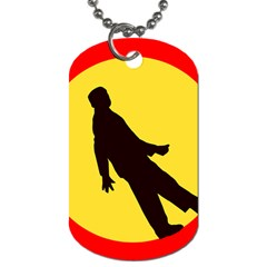 Walking Traffic Sign Dog Tag (Two-sided)