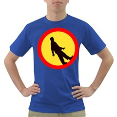 Walking Traffic Sign Mens' T-shirt (Colored)