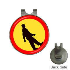 Walking Traffic Sign Hat Clip with Golf Ball Marker