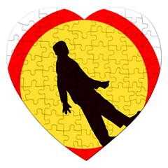 Walking Traffic Sign Jigsaw Puzzle (Heart)