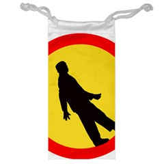 Walking Traffic Sign Jewelry Bag