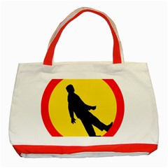 Walking Traffic Sign Classic Tote Bag (Red)