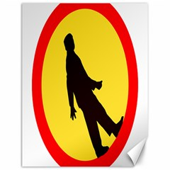 Walking Traffic Sign Canvas 12  x 16  (Unframed)
