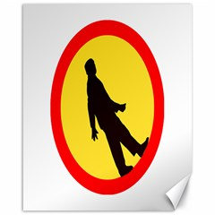 Walking Traffic Sign Canvas 16  x 20  (Unframed)