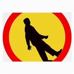 Walking Traffic Sign Glasses Cloth (Large, Two Sided)