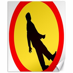 Walking Traffic Sign Canvas 11  x 14  (Unframed)