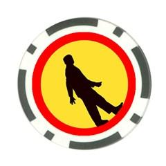 Walking Traffic Sign Poker Chip