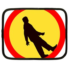 Walking Traffic Sign Netbook Case (Large)