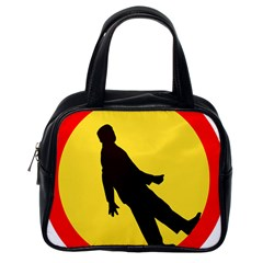 Walking Traffic Sign Classic Handbag (one Side)