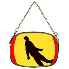 Walking Traffic Sign Chain Purse (Two Sided)