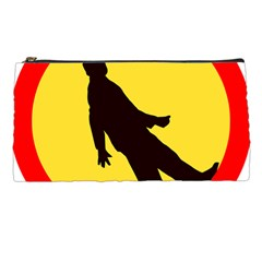 Walking Traffic Sign Pencil Case