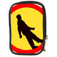Walking Traffic Sign Compact Camera Leather Case