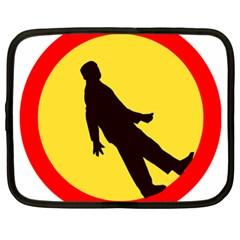 Walking Traffic Sign Netbook Case (xl)