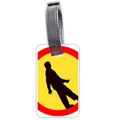 Walking Traffic Sign Luggage Tag (Two Sides)