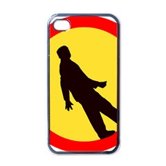 Walking Traffic Sign Apple iPhone 4 Case (Black)