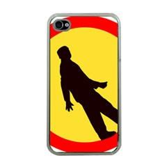 Walking Traffic Sign Apple iPhone 4 Case (Clear)