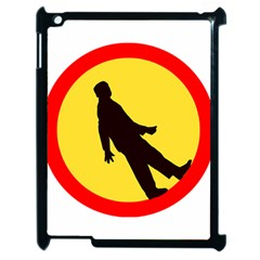 Walking Traffic Sign Apple Ipad 2 Case (black)