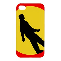 Walking Traffic Sign Apple iPhone 4/4S Premium Hardshell Case