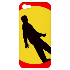 Walking Traffic Sign Apple iPhone 5 Hardshell Case