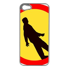 Walking Traffic Sign Apple Iphone 5 Case (silver)