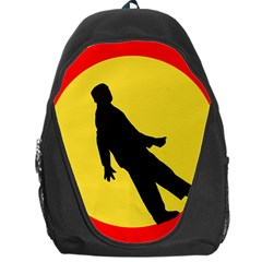 Walking Traffic Sign Backpack Bag