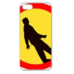 Walking Traffic Sign Apple Seamless iPhone 5 Case (Clear)