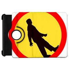 Walking Traffic Sign Kindle Fire HD 7  Flip 360 Case