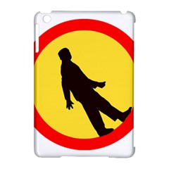 Walking Traffic Sign Apple Ipad Mini Hardshell Case (compatible With Smart Cover)