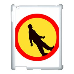 Walking Traffic Sign Apple iPad 3/4 Case (White)