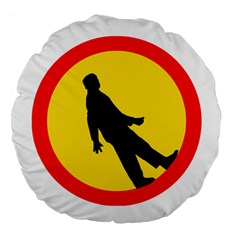 Walking Traffic Sign 18  Premium Round Cushion