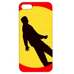 Walking Traffic Sign Apple Iphone 5 Hardshell Case With Stand