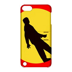 Walking Traffic Sign Apple iPod Touch 5 Hardshell Case with Stand