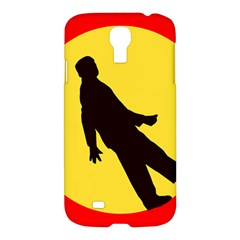 Walking Traffic Sign Samsung Galaxy S4 I9500/i9505 Hardshell Case