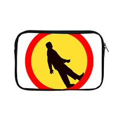 Walking Traffic Sign Apple iPad Mini Zipper Case