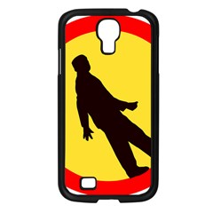 Walking Traffic Sign Samsung GALAXY S4 I9500/ I9505 (Black)