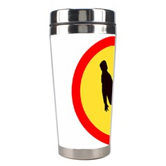 Walking Traffic Sign Stainless Steel Travel Tumbler