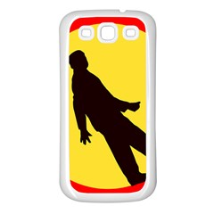 Walking Traffic Sign Samsung Galaxy S3 Back Case (White)